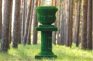 Топиари вазон на колонне - газон Eco