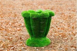 Топиари вазон малый, 70 см - газон Premium