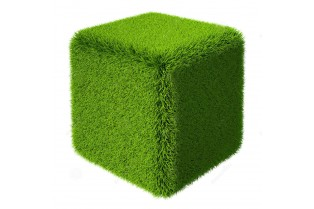Топиари куб, зеленый, маленький - газон Deluxe