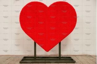 Топиари сердце, h=123 см - газон Eco